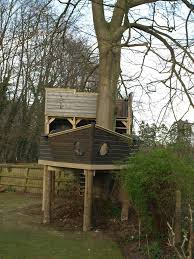 front of childrens ship treehouse