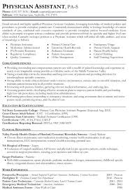 Sample Resume Doctor Sample Resume For Physician Physician Assistant