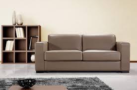 modern chocolate leather sofa bed