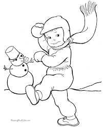 Small Picture Winter Coloring Sheets and Pictures