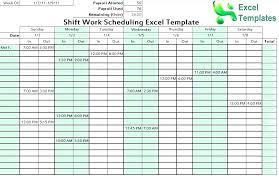 Schedule Maker Work Excel Schedule Maker Work 7 Shift Template Theoutdoors Co