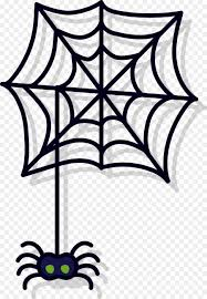 spider web coloring book drawing clip art simple dark spider web