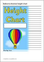 Sparklebox Height Chart Balloons Themed Childrens Height Chart Sb5043