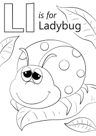 Lady Bug Coloring Sheet Letter L Is For Ladybug Coloring Page Free Printable