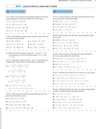 1 1 5 10 find parametric equations and symmetric equations for the line