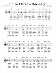 gethsemane sheet music free lead sheet go to dark gethsemane free sheet music sheet