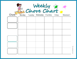 Weekly Household Chore List Agenda House Chores Schedule Template Chart Household List