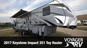 2017 keystone impact 351 toy hauler video tour voyager rv centre