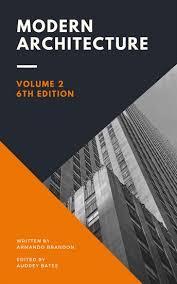 orange and dark purple triangular modern architecture book cover