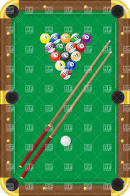 pool table balls clipart. Delighful Pool Billiard Table Balls And Cue  Top View Vector Image U2013 Artwork Of  Sport Click To Zoom Throughout Pool Table Balls Clipart