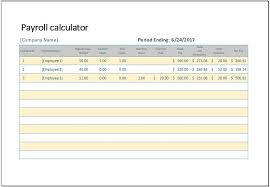 Payroll Calculator Template for MS Excel | Word & Excel Templates