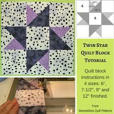 Twin Star Quilt Block Pattern: 6