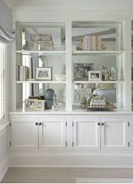 mirror mirror on the shelves very cool way to enlarge a space alcove lighting ideas