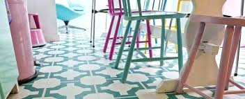 Patterned Vinyl Floor Tiles