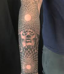 Arm Black Grey Dotwork Geometricmandala Realisticrealism Tattoo