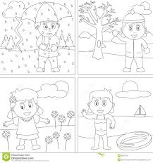 seasons coloring pages printable 12 throughout