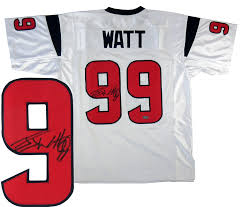 Custom Jersey j Watt Deluxe J Texans Houston Signed White