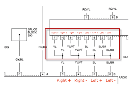 chrysler crossfire wiring diagram new radio head unit wired to factory stock amp amplifier new radio head unit wired to 2012 arctic cat wiring diagram