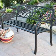 garden benches metal.  Benches Curved Back Metal Garden Bench  Hayneedle In Benches A