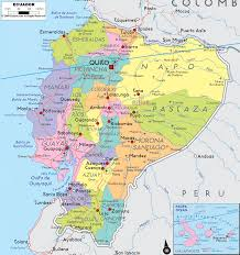 detailed political map of ecuador  ezilon maps