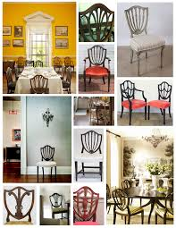 Mystery Of Design The Elegant Hepplewhite ShieldBack Chair - Shield back dining room chairs
