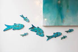 opulent ideas fish wall art home design set of 10 ceramic hangings zoom metal for kids on ceramic fish wall art uk with fish wall art turbid fo