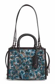 COACH 1941 Sequins Rogue 25 Leather Satchel