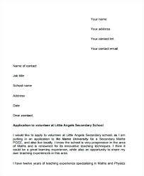 Volunteer Cover Letter Samples Cover Letter For A Volunteer Position Cover Letter For A Volunteer