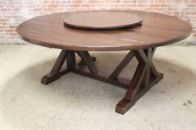 78 inch round old pine table03