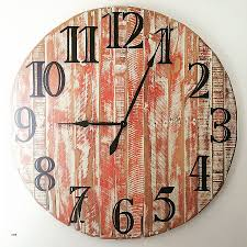 large beach wall clocks awesome handmade pallet wood wall clock red and white rustic finish