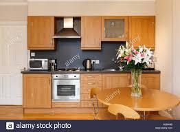 Molyneux House Marble Arch Moderne Kleine Küche Layout Mit Esstisch