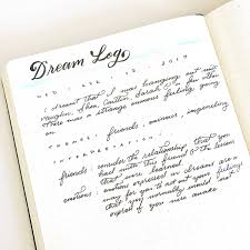 How Having A Dream Log In Your Bullet Journal Can Help You Learn