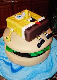 Spongebob Krusty Burger Birthday Cake Ashlee Marie Real Fun