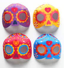 Free Printable Calavera Sugar Skull Mask
