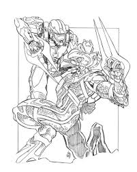 Small Picture Halo Spartan 2 Coloring Coloring Pages