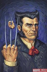 wolverine art in the style of vincent van gogh