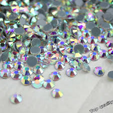hot fix rhinestones iron on for clothes nail art high quality ss6 ss10 ss16 ss20 ss30 glass crystal ab stone