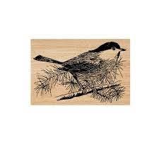 Winnie Bird Wood Mounted Rubber Stamp