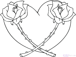 coloring pages for hearts heart with arrow more s roses and coloring pages for hearts heart
