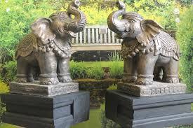 elephant statue on plinth
