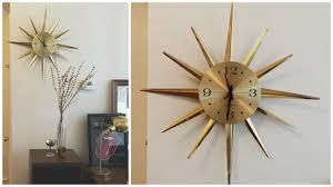 george nelson sunburst wall clock silver sunburst wall clock sunburst clock