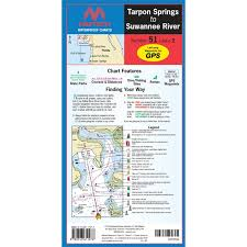 Maptech Folding Waterproof Chart Tarpon Springs To Suwanee River