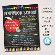 Editable School Open House Flyer Printable Pta Pto Flyer Etsy