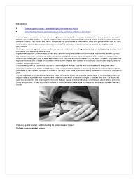 violence against women a research paper navneet misra 4 introduction • violence against women