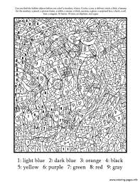 Free Printable Color Number Coloring Pages Printable Coloring Page