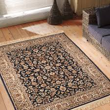 bi navy blue patterned rixos rug