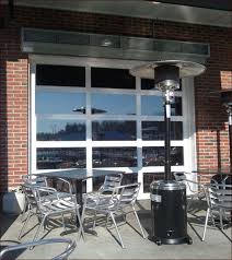Glass Garage Door Restaurant Home Design Ideas