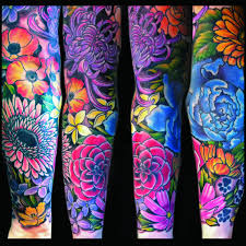 colorful tattoo sleeve designs. Modren Designs Tattoos  Jessi Lawson U2013 Artist I Love The Bright Colors On This One Think  Black Back Ground Really Makes Them Pop Intended Colorful Tattoo Sleeve Designs