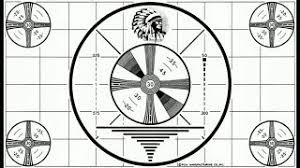 Indian Head Test Pattern Fascinating Television RCA Sign Off Alignment Test Pattern Indian Head Version