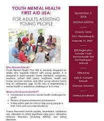 youth mental health first aid usa for s isting young people september 5 2018